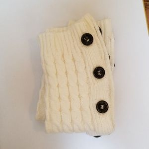 Accessories - Leg Warmers Cream Colored with buttons 4/$25